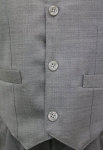 Boys Silver Grey 3 Piece Suit BSG3P