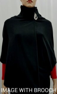 Ladies Black Polar Fleece Cape