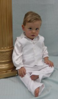 Baptism Vest and Pants set BVPB