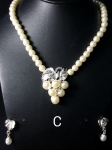 Pearl Necklace and Earing Set NS8