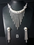 Diamonte Pearl Necklace Set NS9